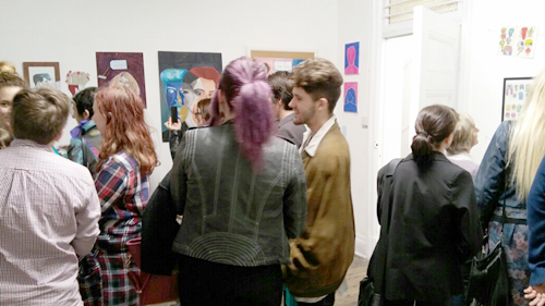 Visitors to the I Am Collective's exhibition